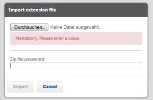 Qlik Sense Server Extension Import Wizard