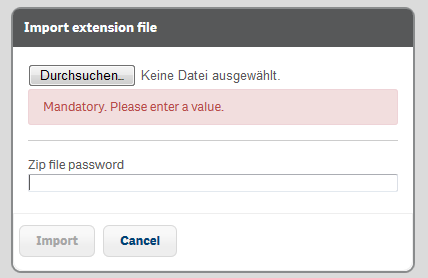 Extentions in Qlik Sense einbinden