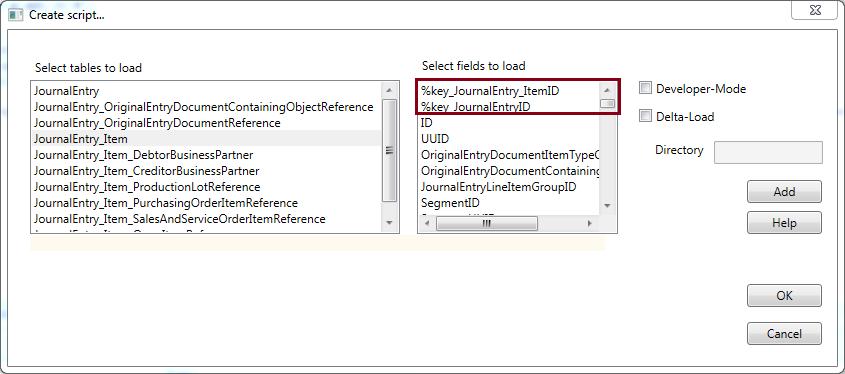 MEHRWERK Qlik-SAP-Cloud-Connector Metadata-Selektion