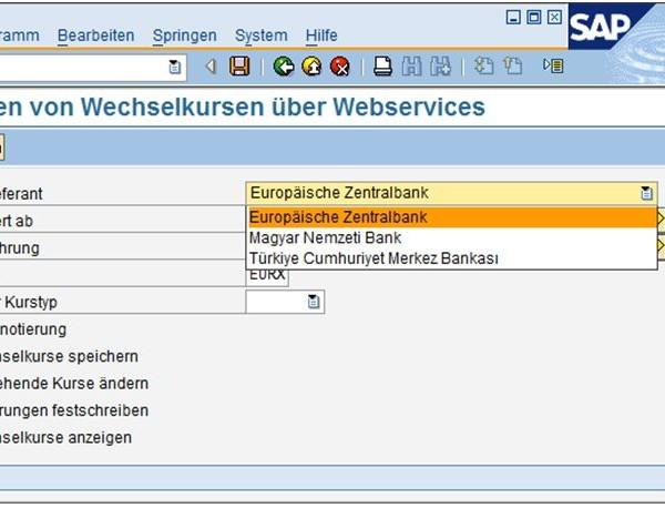 Aktuelle Wechselkurse im SAP ERP