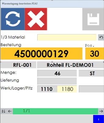 Mobile Datenerfassung mit SAP ERP Wareneingang