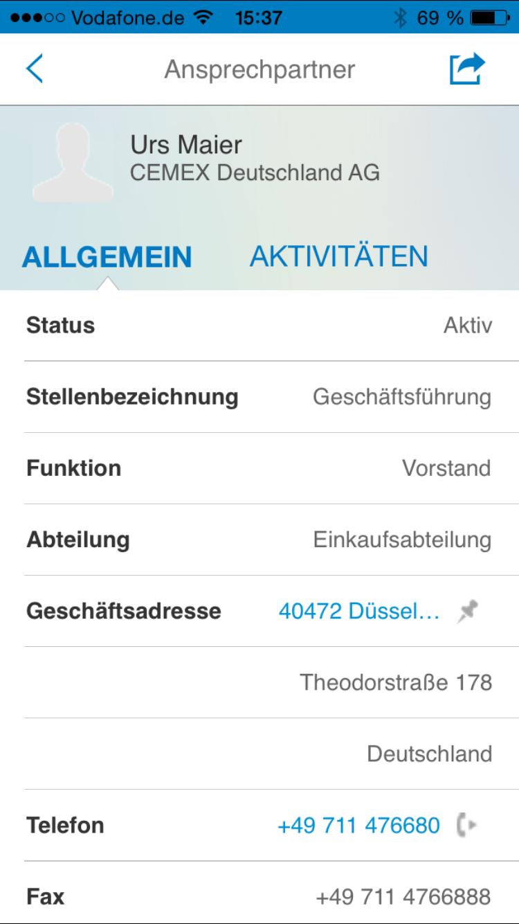 SAP Cloud for Sales - MobileApp 4