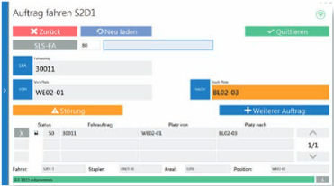 Staplerleitsystem für SAP ERP - Staplerdialog 1