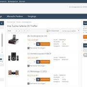 eProcure SAP ERP Katalogsuche Ergebnis