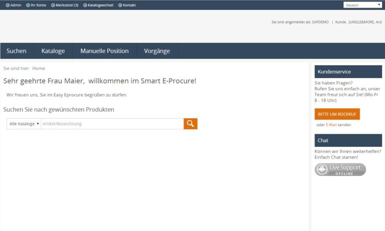 eProcure SAP ERP Welcome