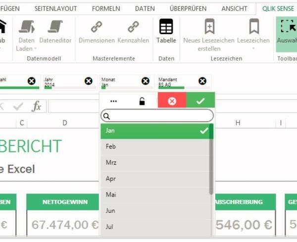 Qlik Sense PlugIn für Micorsoft Excel