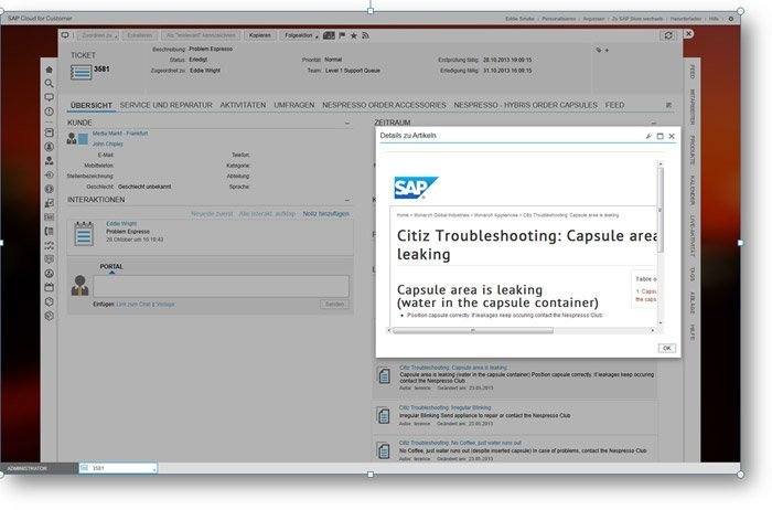 SAP Cloud for Service Knowledge Base
