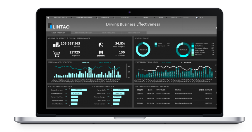 Data Experience mit LinPack Dashboards & Qlik