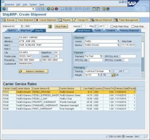 SAP Multi Carrier Transportmanagement mit ShipERP - Create Shipment