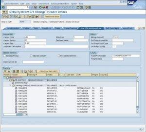 SAP Multi Carrier Transportmanagement mit ShipERP - Delivery Change