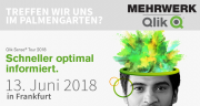 Treffen wir uns im Palmengarten?   Qlik Sense Tour 2018 in Frankfurt am 13.06.2018