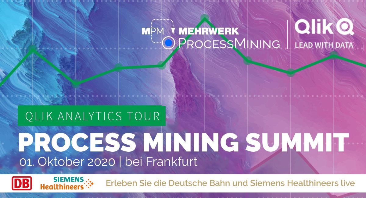 PROCESS MINING SUMMIT im Rahmen der Qlik Analytics Tour 2020