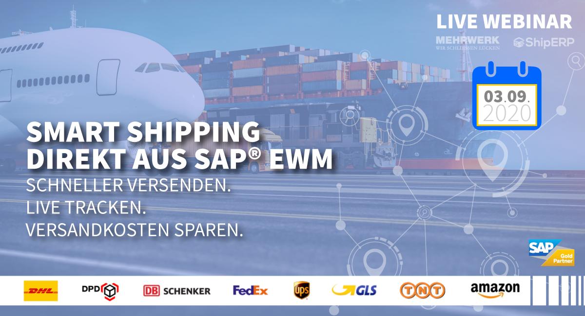 Smart Shipping direkt aus SAP® EWM – Schneller versenden. Live tracken. Versandkosten sparen.
