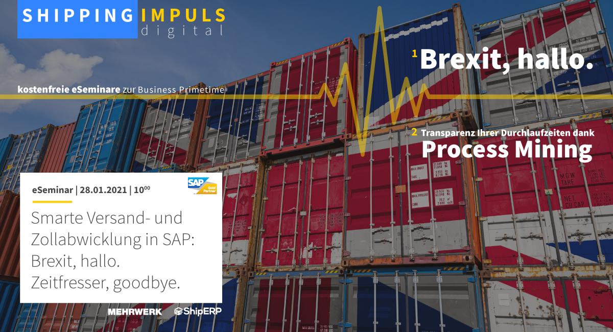 Smarte Versand- und Zollabwicklung in SAP: Brexit, hallo. Zeitfresser, goodbye.